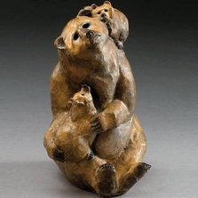 Bear Mama Bronze Sculpture | Mark Hopkins | mhs81035