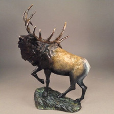"Elk Bronze Sculpture ""Mountain Monarch"" 