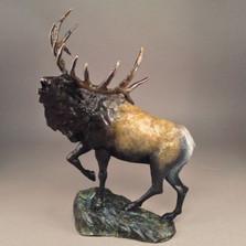 "Elk Bronze Sculpture ""Mountain Monarch""   Mark Hopkins   mhs81038"