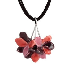 Pelargonium Flower Necklace | Franz Porcelain Jewelry | FJ00258