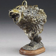 Grizzly Bear Bronze Sculpture | Mark Hopkins | mhs81072