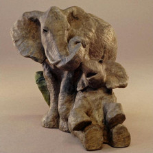 "Elephant Bronze Sculpture ""Embrace"" 
