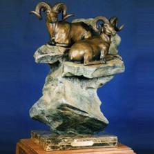 "Dall Sheep Bronze Sculpture ""The High Life""   Scott Lennard   SLB07"