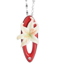 Fragrant Lily Necklace | Franz Porcelain Jewelry | FJ00300 -2