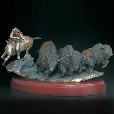 "Buffalo Sculpture ""As Things Were "" 
