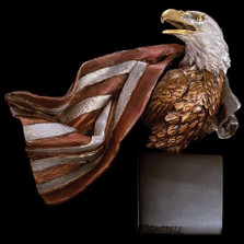 "Eagle with Flag Sculpture ""Symbols of Honor"" 
