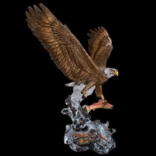 "Eagle Sculpture ""Clear Waters"" 