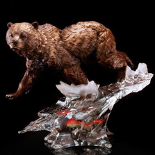 "Bear Sculpture ""Solitary Hunter"" 
