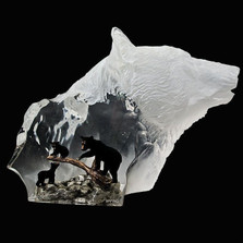 "Black Bear Sculpture ""Clan"" 