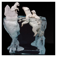 "Polar Bear Sculpture ""A Mother's Calling"" 