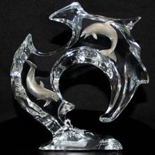 "Dolphin Sculpture ""Flow"" 