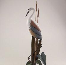 Heron Sculpture on Slate Base | TI Design | W100