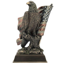Eagle Sculpture with Stars N Stripes | Unicorn Studios | USIWU76584A4