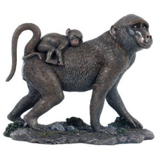 Baboon and Baby Sculpture | Unicorn Studios | wu74613v4