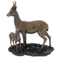 Gazelle and Baby Gazelle Sculpture | Unicorn Studios | wu74738a4