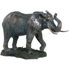 Elephant Sculpture Trunk Up | Unicorn Studios | WU74755V4