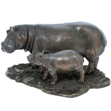 Hippo and Baby Hippo Sculpture | Unicorn Studios | wu74804a4
