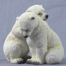 Polar Bear Cubs Sculpture | Unicorn Studios | WU75230AA