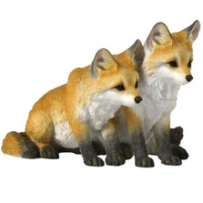 Fox Pups Sculpture | Unicorn Studios | WU75451AA