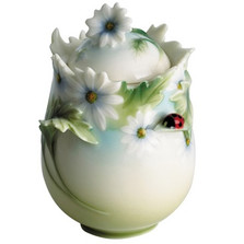 Ladybug Sugar Jar | fz00401 | Franz Porcelain Collection -2