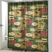 Rather be Fishing Shower Curtain & Hooks Set | AVA13013G-H