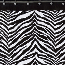 Zebra Print Shower Curtain | Creative Bath | S1050
