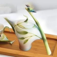 Bamboo Songbird Teapot | fz00573 | Franz Porcelain Collection