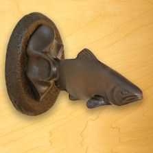 Trout Towel Hook   Functional Fine Art   ffa01504
