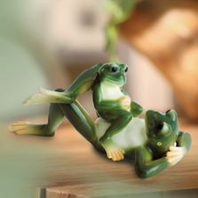 Frog Collection Father & Son Figurine | Franz Porcelain