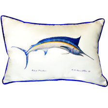 Blue Marlin Indoor Outdoor Pillow 20X24 | Betsy Drake | BDZP015