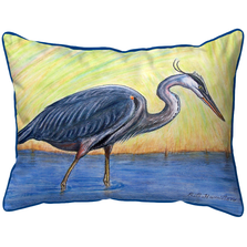 Blue Heron Art Indoor Outdoor Pillow 20x24 | Betsy Drake | BDZP027