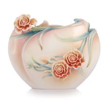 Carnation Porcelain Flat Vase   FZ00656   Franz Porcelain Collection