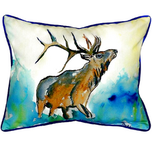 Elk Indoor Outdoor Pillow | Betsy Drake | BDZP237