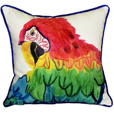 Parrot Head Indoor Outdoor Pillow | Betsy Drake | ZP291