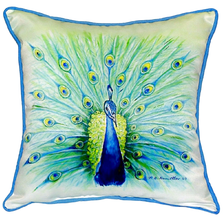 Peacock Indoor Outdoor Pillow | Betsy Drake | BDZP758