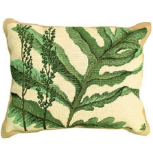 Fern Needlepoint Down Pillow | Michaelian Home | MICNCU109
