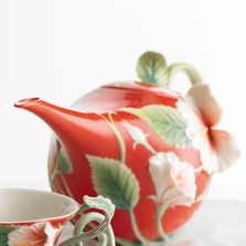 Island Beauty Hibiscus Teapot | fz00983 | Franz Porcelain Collection