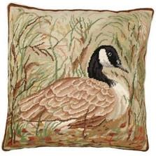 Canada Goose Needlepoint Down Pillow | Michaelian Home | MICNCU748 -2
