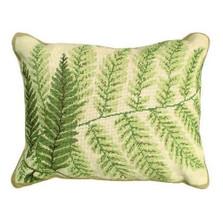 Helene Verin Fern Needlepoint Down Pillow | Michaelian Home | MICNCU82SD-1620