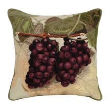 Purple Grapes Needlepoint Down Pillow | Michaelian Home | MICNCU83