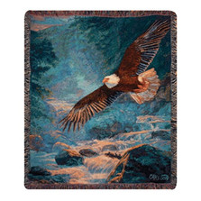 Eagle Tapestry Throw Blanket | Manual Woodworkers | MWWATAMJ