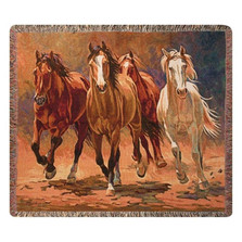 Horse Tapestry Throw Blanket | Manual Woodworkers | MWWATHBHB