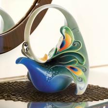 Luminescence Peacock Teapot | FZ01209 | Franz Porcelain Collection
