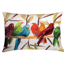 Flocked Together Bird Outdoor Pillow | Manual Woodworkers | SHXFKT-2