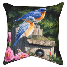 Birdhouse Indoor/Outdoor Throw Pillow | Manual Woodworkers | SLBHB8-2