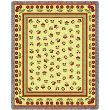 Cherries Jubilee Tapestry Throw Blanket | Pure Country | PC1209T