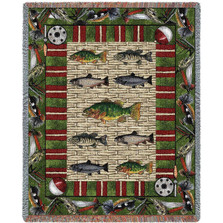 Gone Fishing Fisherman Throw Blanket | Pure Country | pc1407T