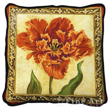 Tulip Unveiled Floral Throw Pillow | Fine Art Tapestries | pc1724P