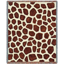 Giraffe Print Woven Throw Blanket | Pure Country | pc1854T