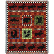 Moose Tapestry Throw Blanket Adirondack | Pure Country | pc1921T